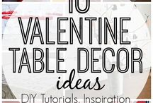 Valentine Table Decor Ideas & More / Find ideas for Valentine's Day- Table Decor Ideas, DIY Decor Inspiration and more!