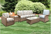 Anglers Bluff Outdoor Decor / Beautiful Anglers Bluff outdoor wicker by BeachCraft Rattan