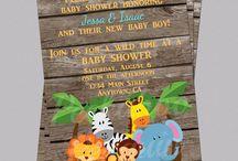 Animal Baby Shower Invitations Boys