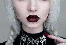 Gothic mood board / Makeup mood board