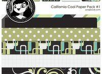 fonts and scrapbook paper