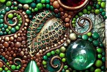 """Mosaics I love / Mosaics is like """"found"""" sculpture to me, and also a bit like painting in shapes!"""