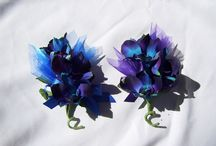 Silk Wedding Corsages, Wrist or Pin On