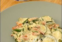 carbonara courgettes