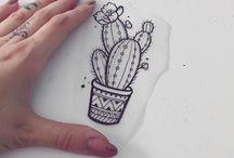 kaktus tatuaz