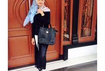 Black&white casual hijab / Style of hijab