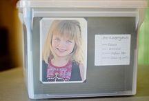 Storage / Storing kids school keepsakes
