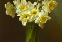 Vasi di fiori dipinti