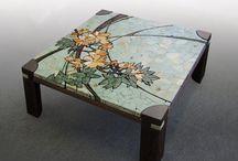 столы мозайка