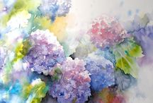 Floral paintings to inspire / Flowers, fauna and flora....