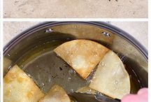How to make homemade tortilla chips at home from chefsavvy.com #tortilla #chips / Homemade tortilla chips
