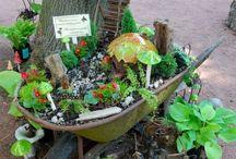 Fairy Garden Ideas / Examples and Ideas for creating a fairy garden.