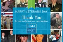 "Veterans Day / Thank you to our UMA veterans and families for your service and sacrifice.   ""Home of the free because of the brave."""