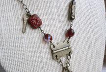 mixed media jewelry / handmade mixed media jewelry, diy mixed media jewelry, how to make mixed media jewelry