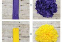 flor de papel decoração