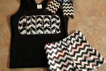 cheer practice outfits / by Dani Thompson