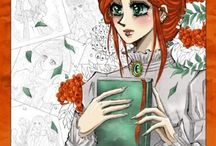 Manga Coloring books for children and adults
