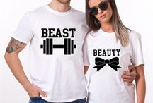 Couple T-Shirts / Show the people how much you love each other with our wide collections of Couple T-Shirts. From cute Couple T-Shirt to funny and sweet ones, we've got everything covered for you and your special someone.
