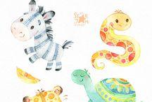 Watercolor kids