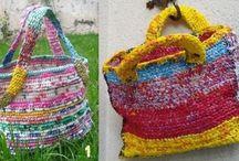 recycler des sacs en plastique avec un crochet
