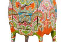 Beschilderd / Beschilderde meubelen, serviersgoed en meer