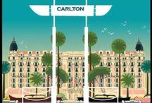 travel poster Provenza e Costa Azzurra
