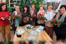 TALLERES BLANCO AZAHAR / Talleres estacionales de Blanco Azahar para realizar creaciones florales, decoración y flamenca. Ven a visitarnos a: C/ José Gestoso 17
