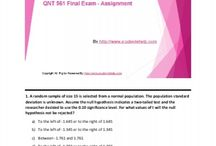 QNT 561 Final Exam