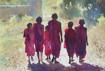 Akvarel mennesker