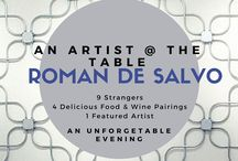 Our Upcoming events 2016 : An Artist @ The Table / A fascinating dinner with inspiring people from the San Diego Arts Community. Come Join us! #Food #Foodie #Events #SanDiego
