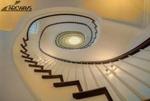 Stack Staircase for Townhouse / Staircases designed for New York City townhouses.