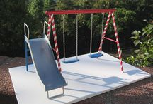 miniature toys and outdoor equipment