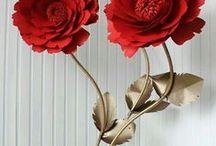 бумажные гигантские цветы