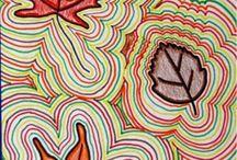 Omtrekken bladeren