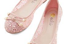 Rose flats / Cute shoes