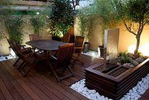 Terrazas, patios