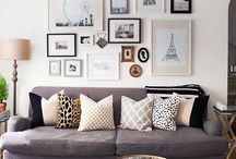Living Room Inspo / Create a comfortable and chic living area in your home with these ideas for home. We have it all from bright and vibrant decor to subtle neutral and sleek extras.