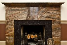FIREPLACE SURROUNDS WITH STONE