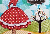 Serie Prima Dolls / Colección de páginas con los sellos de Prima Dolls