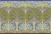 растительный орнамент арт ново, арт деко: Charles Francis Annesley Voysey (Войси) и др.