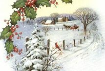 Snowy Vintage Bliss / Home Sweet Home Christmas/Winter scenes.