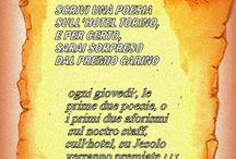 GARA RIDANCIANA E POETICA ALL'HOTEL TORINO OGNI GIOVEDì.  / dal 19.6 2014 al 11.09,2014 ogni giovedì scateniamo la fantasia e la vena poetica . Una poesiola, un aforisma, una frase in rima... sull'hotel Torino, sullo staff, sulle Vostre vacanze, su Jesolo... . Abìvrete tutto il giorno per pensarci e meditare. Le prime due CREAZIONI CONSEGNATE ALLA RECEPTION ALLE 19,30 saranno premiate con due regalini di certo molto carini :-)