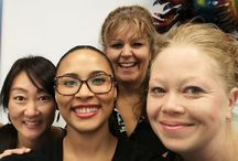 Meet our friendly staff! / Staff at the Santego Centre.