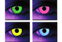 Glow In The Dark Contacts / Glow in the dark contacts are a fun novelty hitting the clubs, raves, or general nightlife.  Also known as *rave contacts*, you can be sure to have a lot of fun with these while dancing, or partying under a UV-light/black-light.