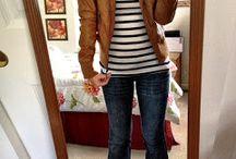Jaquetas de couro marrom
