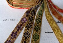 Handfasting bands / Beautiful individual woven bands for handfasting. Handfasting is an old ceremony which is being revived as couples want to make their vows personal and unique.