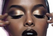 Makeup for dark skin.