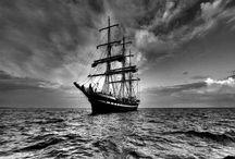 Black and White Photo Water