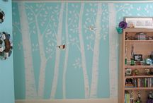DECOR: Princess Forest Bedroom / for my favorite girls, Olivia and Sophia, a Princess forest shared bedroom