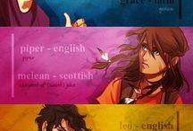 PΣRCΨ JΔCҜSΩΠ and the ΩLΨMPIΔΠS / Ebben a táblában a Percy Jackson könyvek szereplői láthatóak,a legtöbb Viria rajzvilága szerint készült,amit én nagyon szeretek.